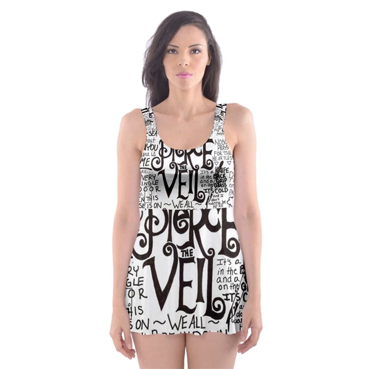 Pierce The Veil Music Band Group Fabric Art Cloth Poster Skater Dress Swimsuit