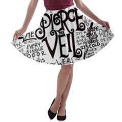 Pierce The Veil Music Band Group Fabric Art Cloth Poster A Line Skater Skirt
