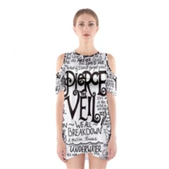 Pierce The Veil Music Band Group Fabric Art Cloth Poster Cutout Shoulder Dress