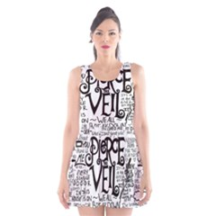 Pierce The Veil Music Band Group Fabric Art Cloth Poster Scoop Neck Skater Dress