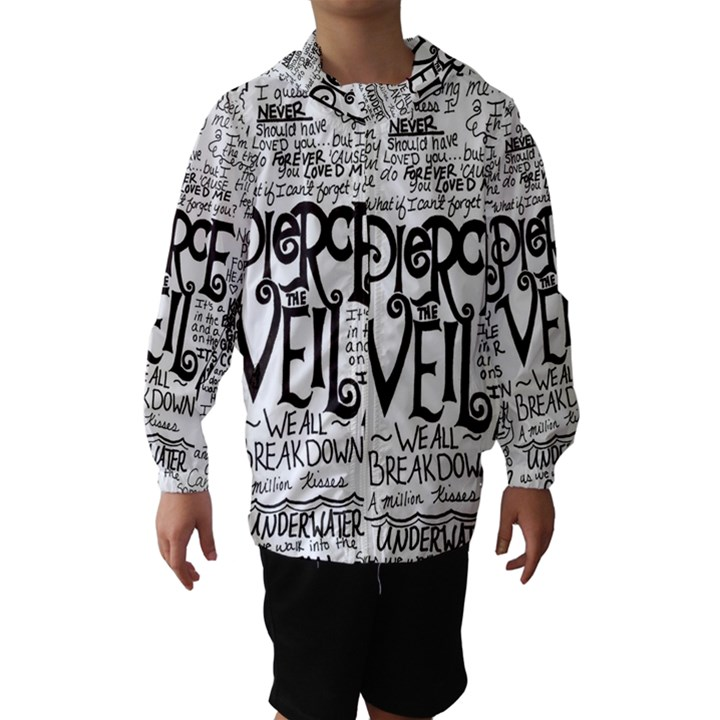 Pierce The Veil Music Band Group Fabric Art Cloth Poster Hooded Wind Breaker (Kids)
