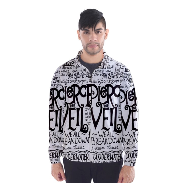 Pierce The Veil Music Band Group Fabric Art Cloth Poster Wind Breaker (Men)