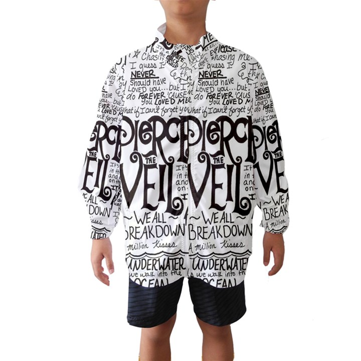 Pierce The Veil Music Band Group Fabric Art Cloth Poster Wind Breaker (Kids)