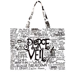 Pierce The Veil Music Band Group Fabric Art Cloth Poster Large Tote Bag