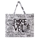 Pierce The Veil Music Band Group Fabric Art Cloth Poster Zipper Large Tote Bag View1