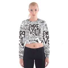 Pierce The Veil Music Band Group Fabric Art Cloth Poster Women s Cropped Sweatshirt