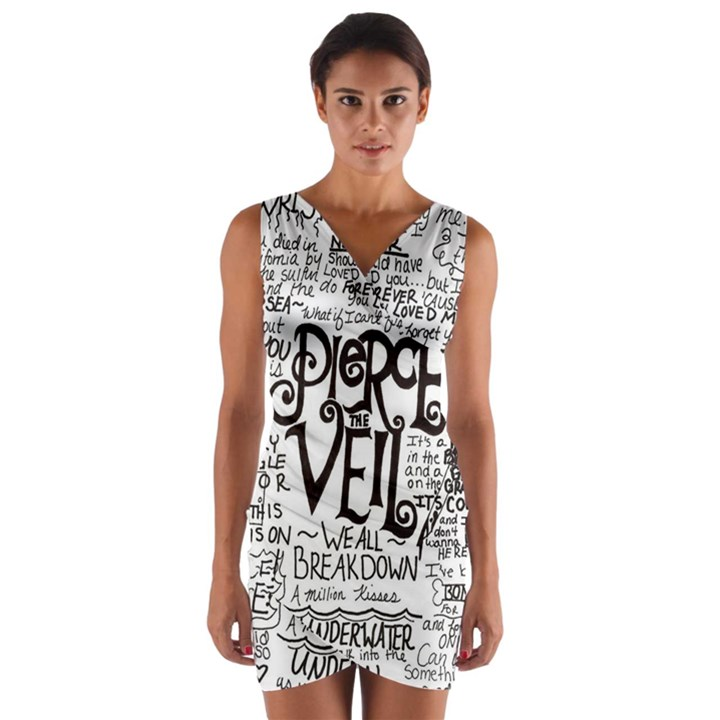 Pierce The Veil Music Band Group Fabric Art Cloth Poster Wrap Front Bodycon Dress