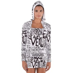 Pierce The Veil Music Band Group Fabric Art Cloth Poster Women s Long Sleeve Hooded T Shirt