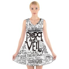 Pierce The Veil Music Band Group Fabric Art Cloth Poster V-Neck Sleeveless Skater Dress