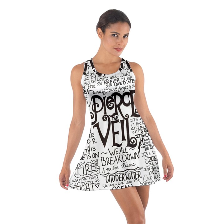 Pierce The Veil Music Band Group Fabric Art Cloth Poster Cotton Racerback Dress