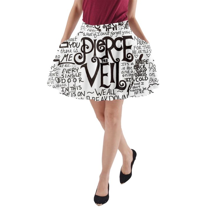 Pierce The Veil Music Band Group Fabric Art Cloth Poster A-Line Pocket Skirt