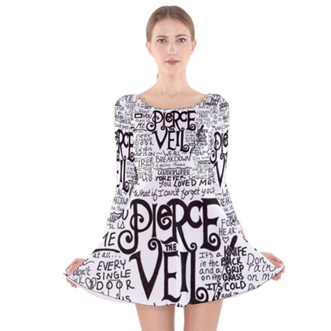 Pierce The Veil Music Band Group Fabric Art Cloth Poster Long Sleeve Velvet Skater Dress