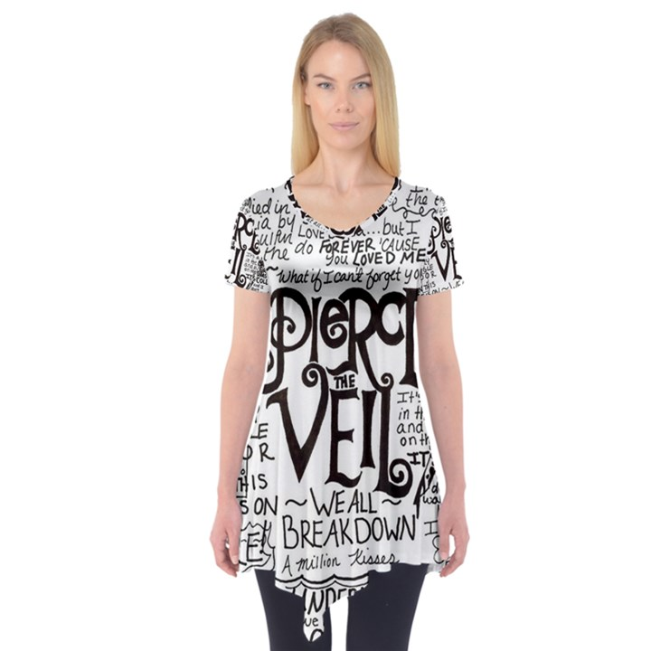 Pierce The Veil Music Band Group Fabric Art Cloth Poster Short Sleeve Tunic