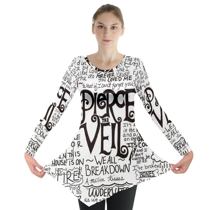 Pierce The Veil Music Band Group Fabric Art Cloth Poster Long Sleeve Tunic