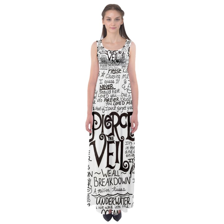 Pierce The Veil Music Band Group Fabric Art Cloth Poster Empire Waist Maxi Dress