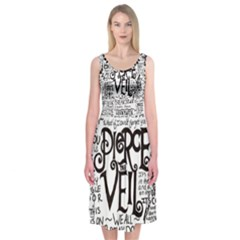 Pierce The Veil Music Band Group Fabric Art Cloth Poster Midi Sleeveless Dress