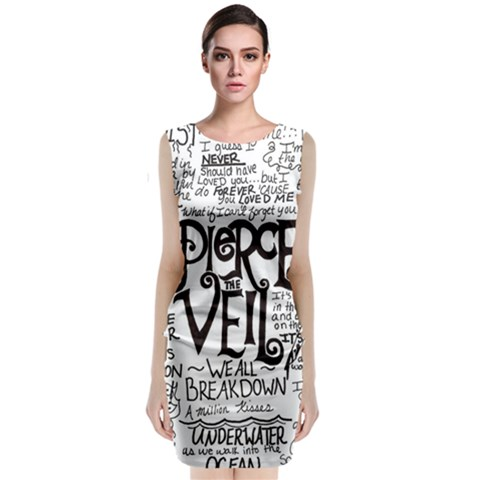 Pierce The Veil Music Band Group Fabric Art Cloth Poster Classic Sleeveless Midi Dress