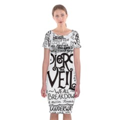 Pierce The Veil Music Band Group Fabric Art Cloth Poster Classic Short Sleeve Midi Dress