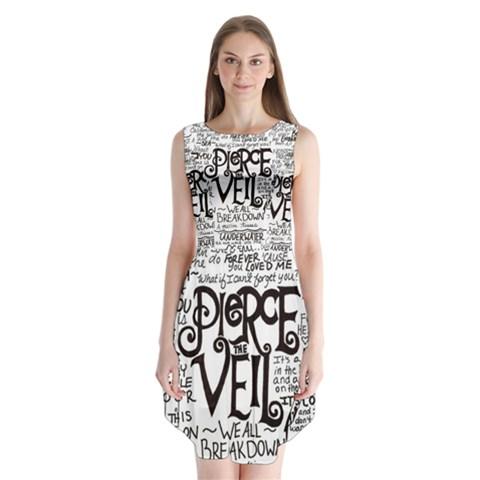 Pierce The Veil Music Band Group Fabric Art Cloth Poster Sleeveless Chiffon Dress
