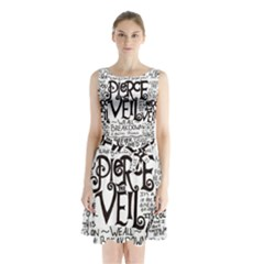 Pierce The Veil Music Band Group Fabric Art Cloth Poster Sleeveless Chiffon Waist Tie Dress