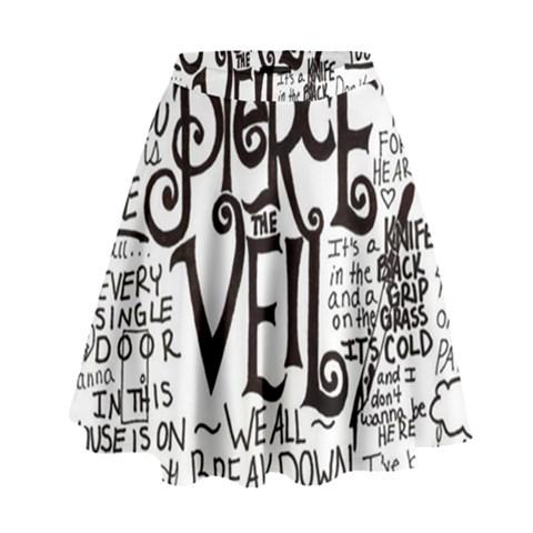 Pierce The Veil Music Band Group Fabric Art Cloth Poster High Waist Skirt