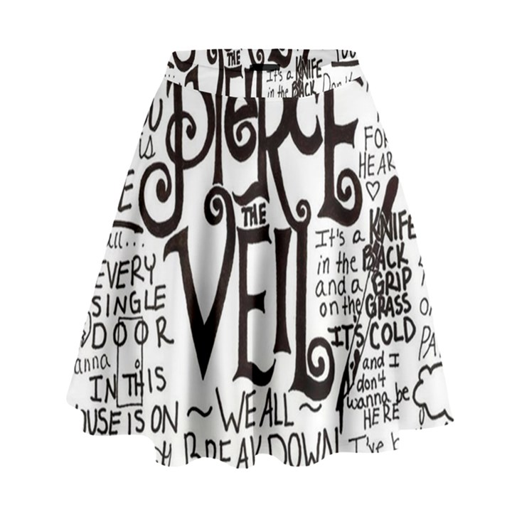 Pierce The Veil Music Band Group Fabric Art Cloth Poster High Waist Skirt