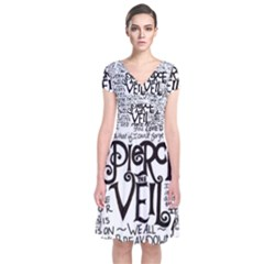 Pierce The Veil Music Band Group Fabric Art Cloth Poster Short Sleeve Front Wrap Dress