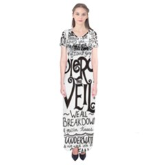 Pierce The Veil Music Band Group Fabric Art Cloth Poster Short Sleeve Maxi Dress