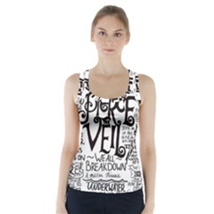 Pierce The Veil Music Band Group Fabric Art Cloth Poster Racer Back Sports Top