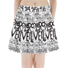 Pierce The Veil Music Band Group Fabric Art Cloth Poster Pleated Mini Skirt