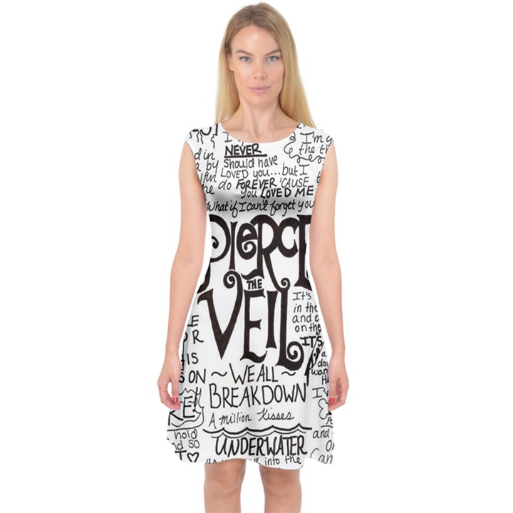 Pierce The Veil Music Band Group Fabric Art Cloth Poster Capsleeve Midi Dress
