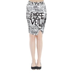 Pierce The Veil Music Band Group Fabric Art Cloth Poster Midi Wrap Pencil Skirt