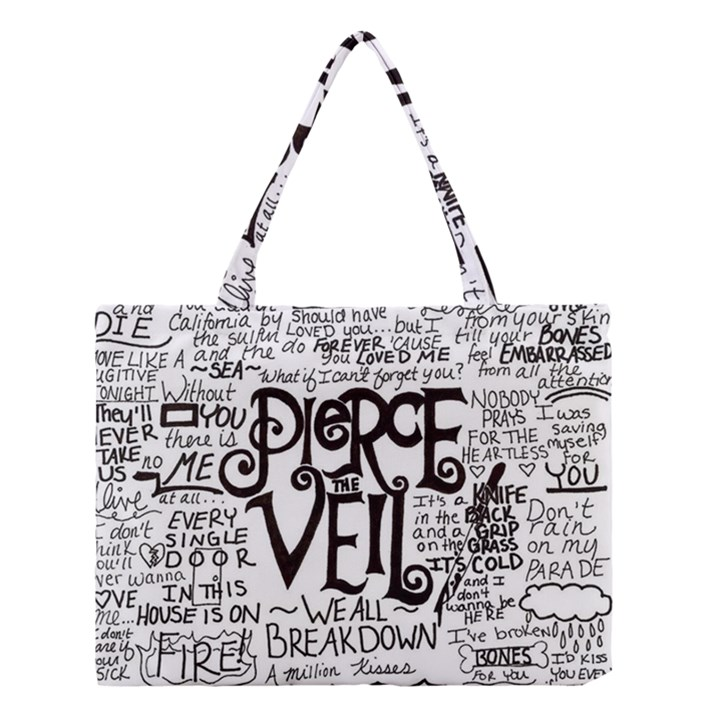 Pierce The Veil Music Band Group Fabric Art Cloth Poster Medium Tote Bag