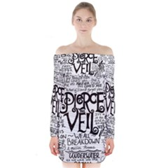 Pierce The Veil Music Band Group Fabric Art Cloth Poster Long Sleeve Off Shoulder Dress