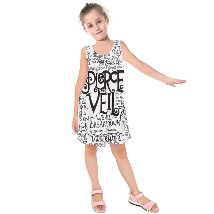 Pierce The Veil Music Band Group Fabric Art Cloth Poster Kids  Sleeveless Dress