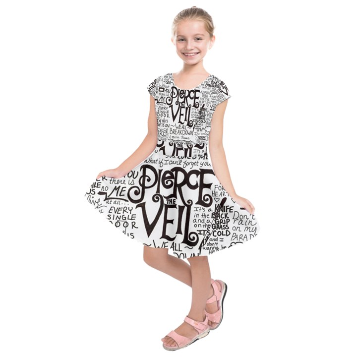Pierce The Veil Music Band Group Fabric Art Cloth Poster Kids  Short Sleeve Dress