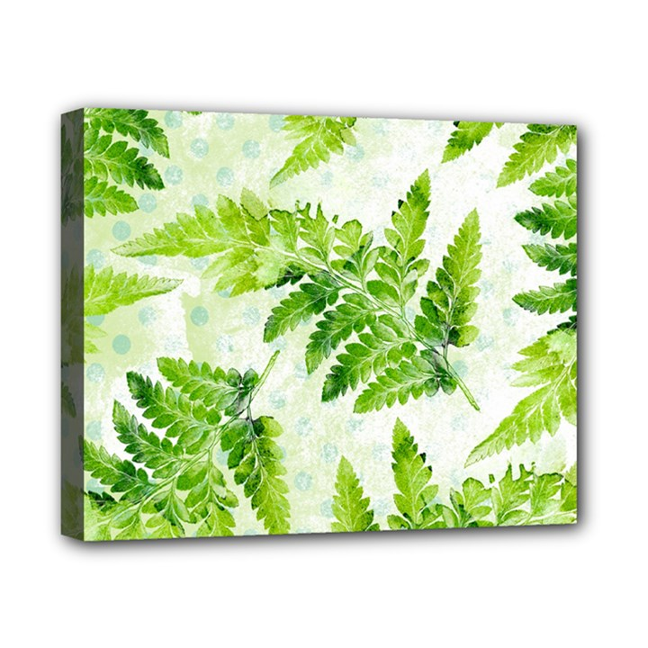 Fern Leaves Canvas 10  x 8