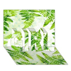 Fern Leaves GIRL 3D Greeting Card (7x5)
