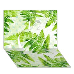 Fern Leaves Apple 3D Greeting Card (7x5)