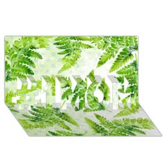 Fern Leaves #1 MOM 3D Greeting Cards (8x4)