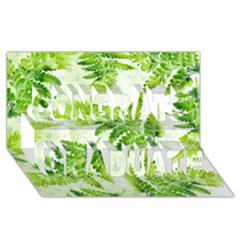 Fern Leaves Congrats Graduate 3d Greeting Card (8x4)