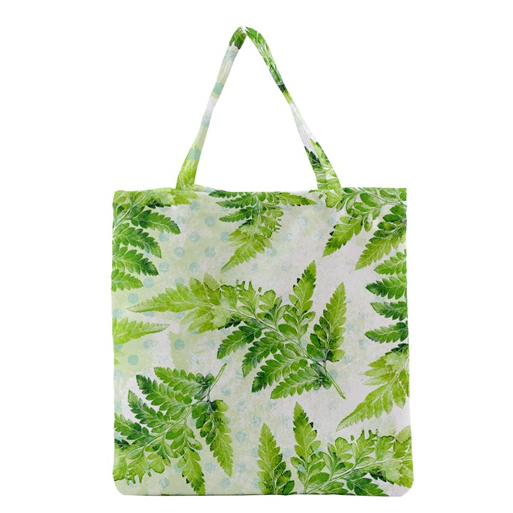 Fern Leaves Grocery Tote Bag