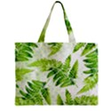 Fern Leaves Zipper Mini Tote Bag View1