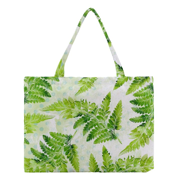 Fern Leaves Medium Tote Bag
