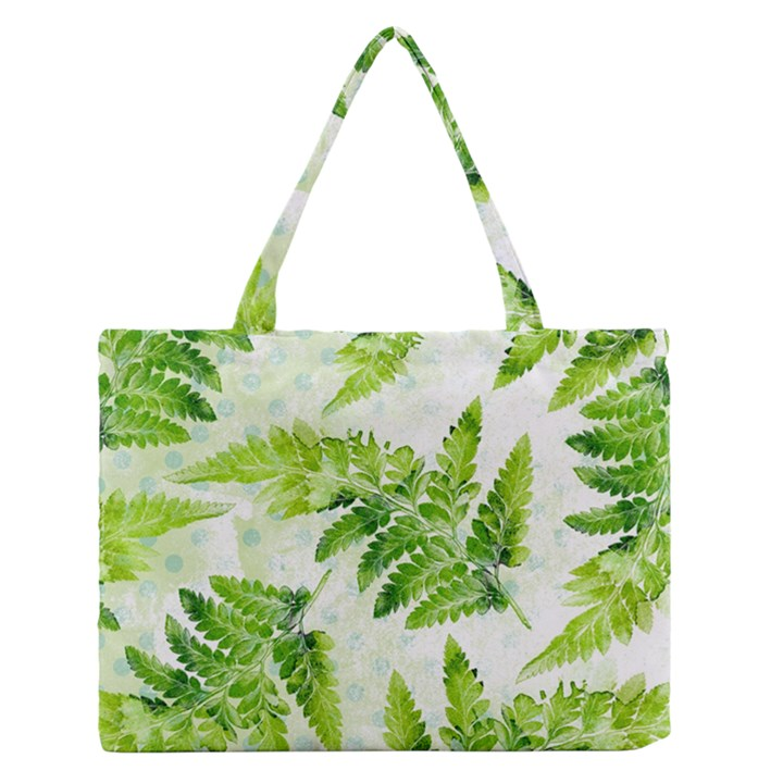 Fern Leaves Medium Zipper Tote Bag