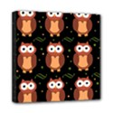 Halloween brown owls  Mini Canvas 8  x 8  View1