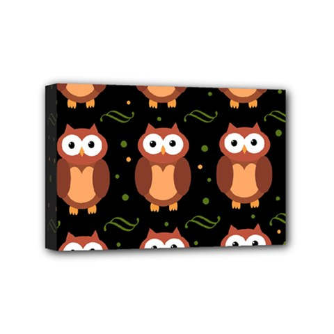 Halloween Brown Owls  Mini Canvas 6  X 4