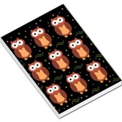 Halloween brown owls  Large Memo Pads