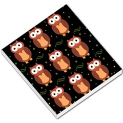 Halloween Brown Owls  Small Memo Pads