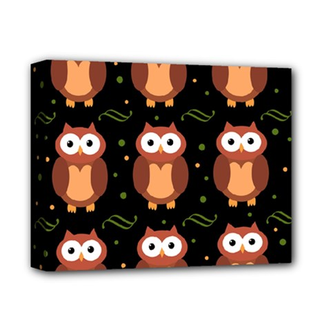 Halloween brown owls  Deluxe Canvas 14  x 11